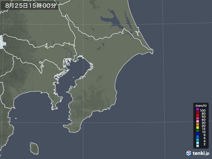 千葉県の雨雲レーダー(2020年08月25日)