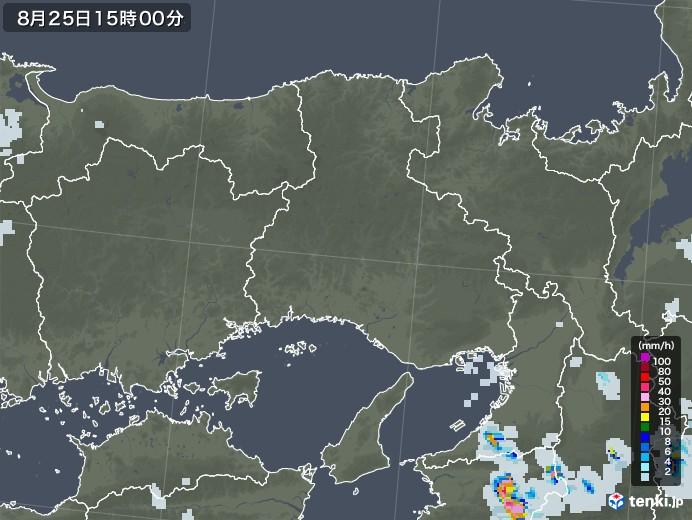 兵庫県の雨雲レーダー(2020年08月25日)