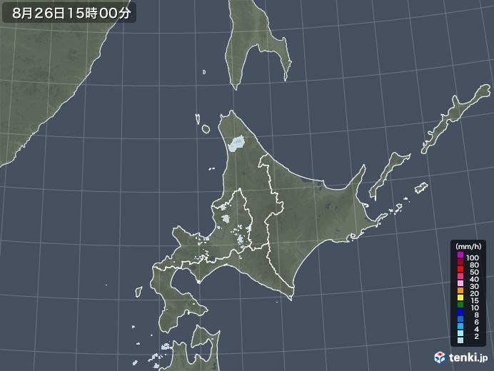 北海道地方の雨雲レーダー(2020年08月26日)
