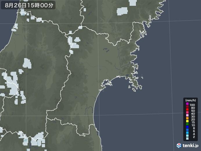 宮城県の雨雲レーダー(2020年08月26日)