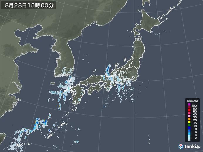 雨雲レーダー(2020年08月28日)