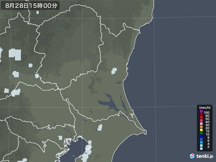 茨城県の雨雲レーダー(2020年08月28日)