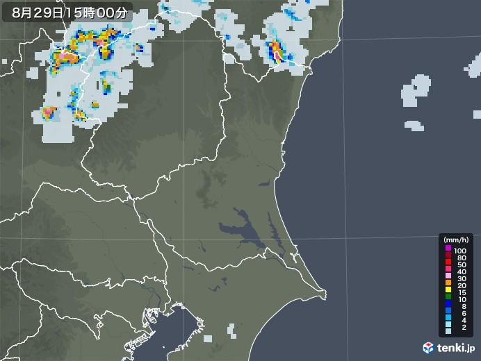 茨城県の雨雲レーダー(2020年08月29日)