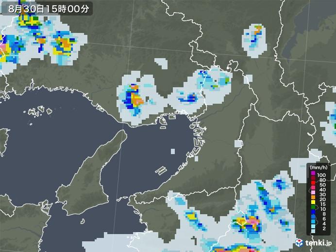 大阪府の雨雲レーダー(2020年08月30日)
