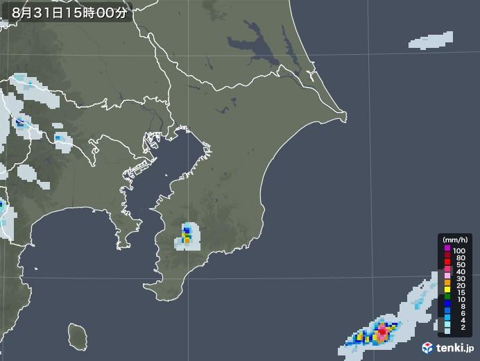 千葉県の雨雲レーダー(2020年08月31日)