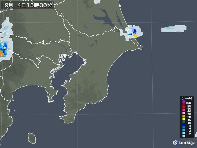 千葉県の雨雲レーダー(2020年09月04日)