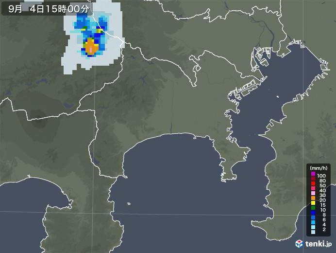 神奈川県の雨雲レーダー(2020年09月04日)