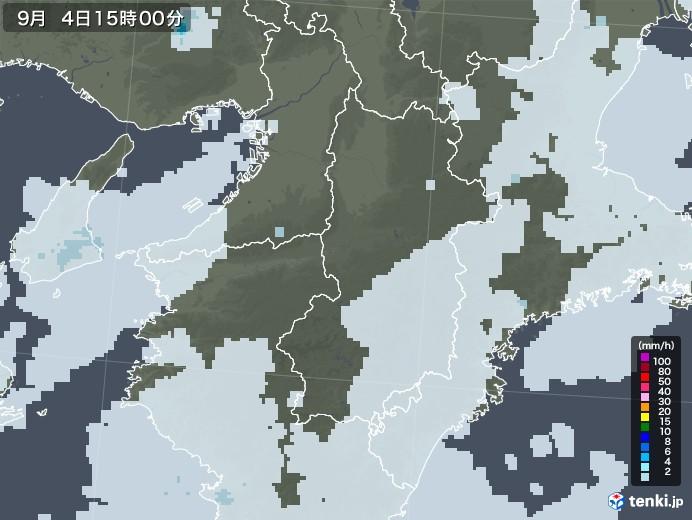 奈良県の雨雲レーダー(2020年09月04日)
