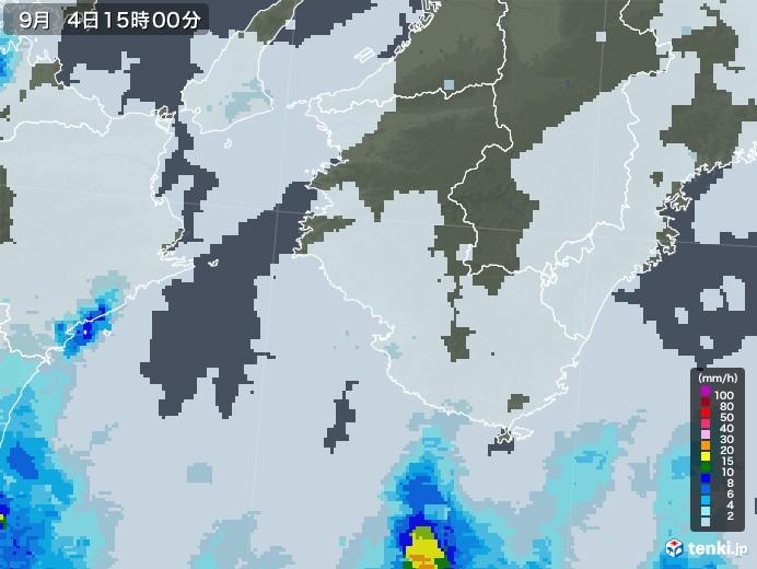 和歌山県の雨雲レーダー(2020年09月04日)