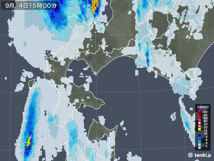 道南の雨雲レーダー(2020年09月04日)