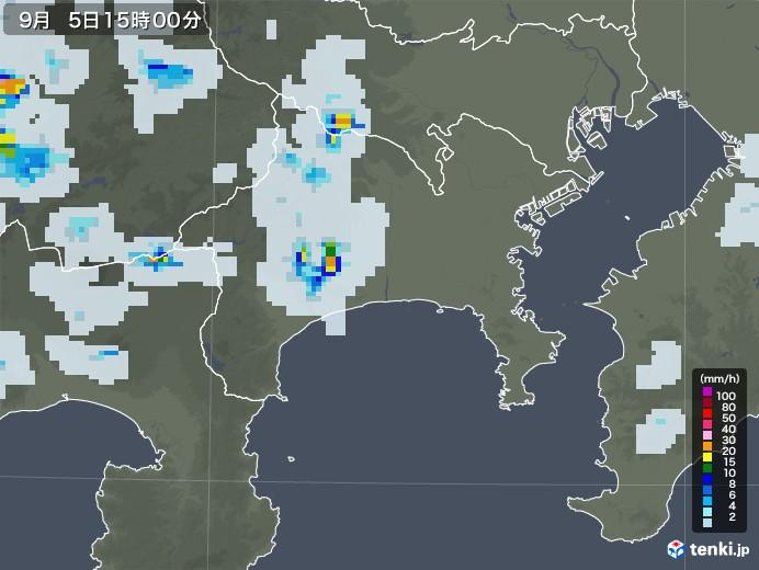神奈川県の雨雲レーダー(2020年09月05日)