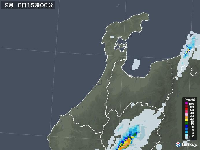 石川県の雨雲レーダー(2020年09月08日)