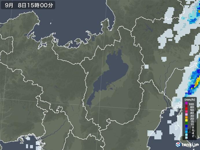 滋賀県の雨雲レーダー(2020年09月08日)