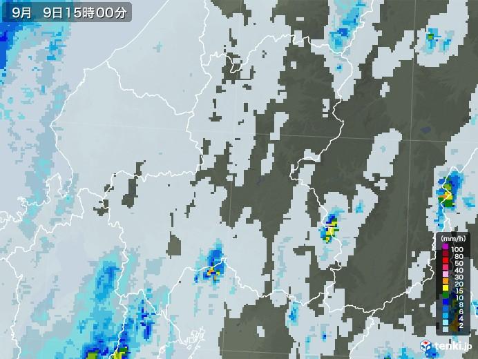 岐阜県の雨雲レーダー(2020年09月09日)