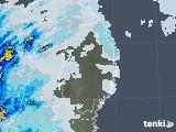 2020年09月13日の岩手県の雨雲レーダー