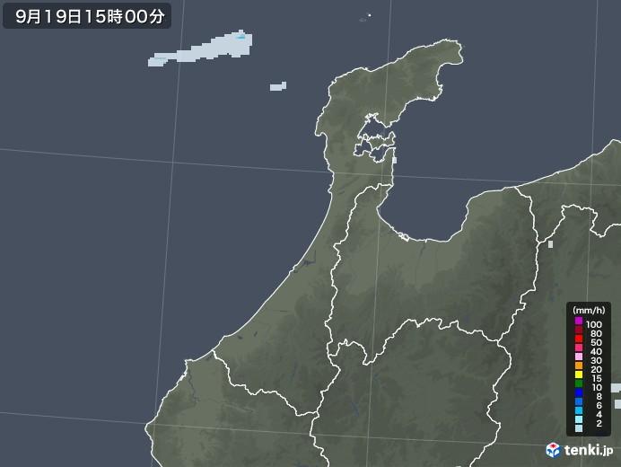 石川県の雨雲レーダー(2020年09月19日)