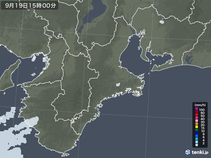 三重県の雨雲レーダー(2020年09月19日)