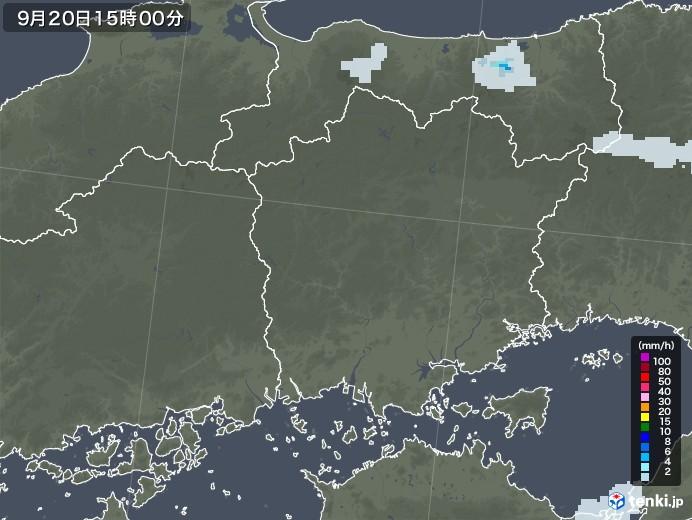 岡山県の雨雲レーダー(2020年09月20日)