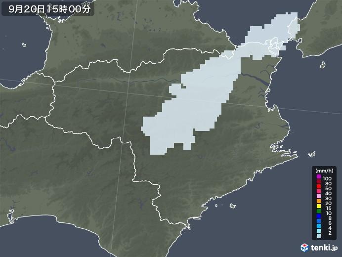 徳島県の雨雲レーダー(2020年09月20日)