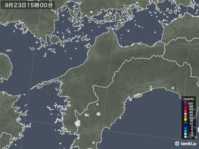 愛媛県の雨雲レーダー(2020年09月23日)