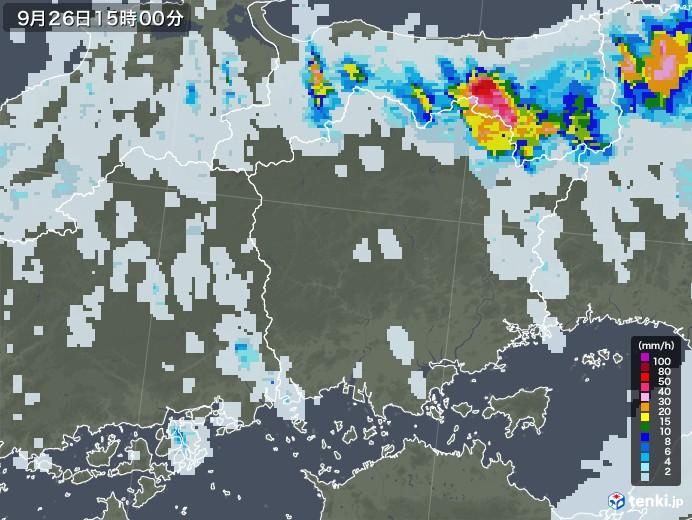 レーダー 岡山 天気 雨雲