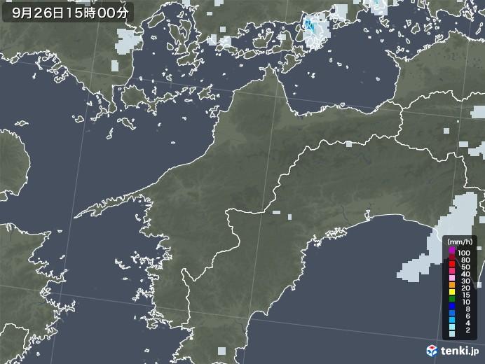 愛媛県の雨雲レーダー(2020年09月26日)