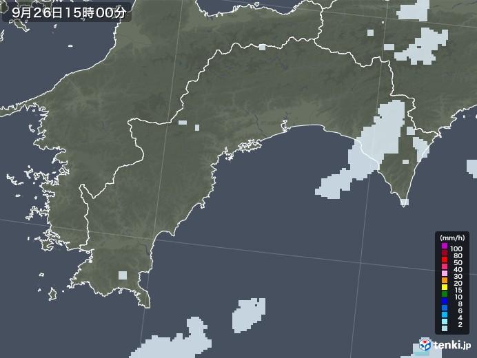 高知県の雨雲レーダー(2020年09月26日)