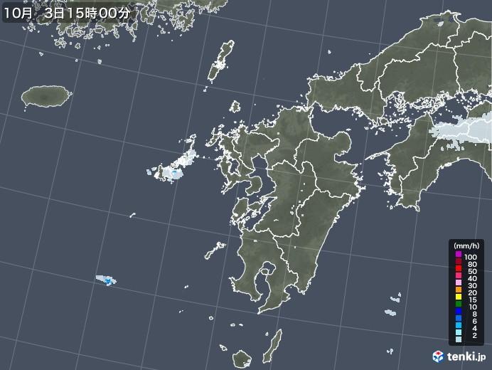 九州地方の雨雲レーダー(2020年10月03日)