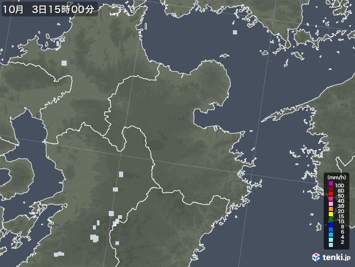 大分県の雨雲レーダー(2020年10月03日)