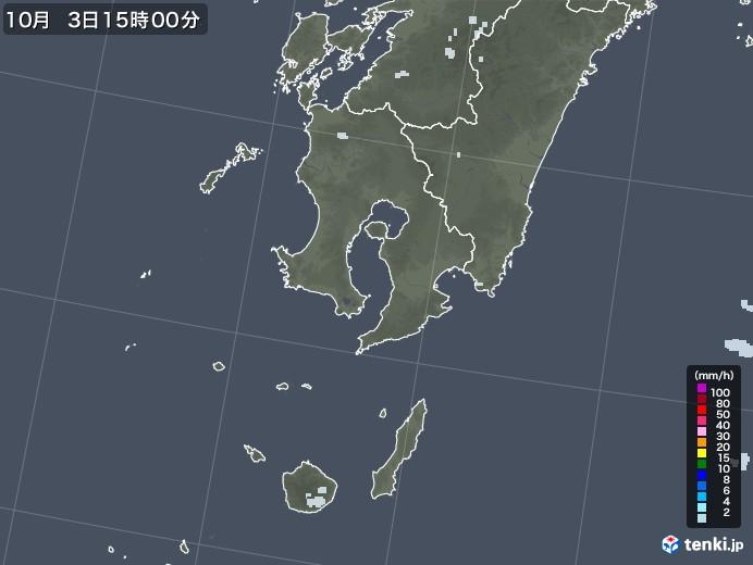 鹿児島県の雨雲レーダー(2020年10月03日)