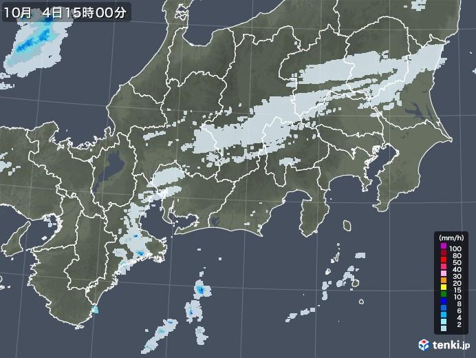 東海地方の雨雲レーダー(2020年10月04日)