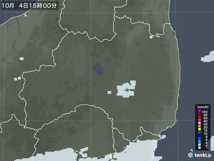 福島県の雨雲レーダー(2020年10月04日)