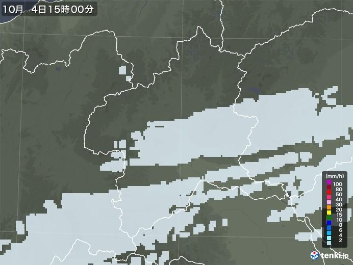 群馬県の雨雲レーダー(2020年10月04日)