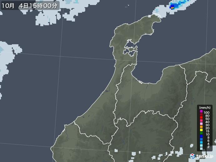 石川県の雨雲レーダー(2020年10月04日)