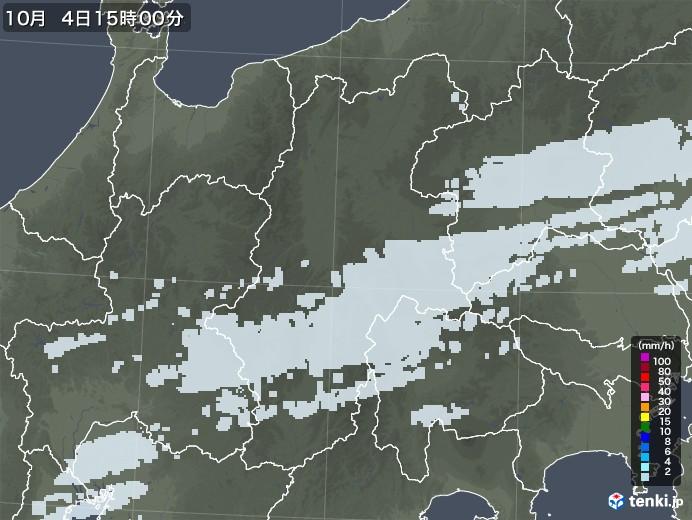 長野県の雨雲レーダー(2020年10月04日)