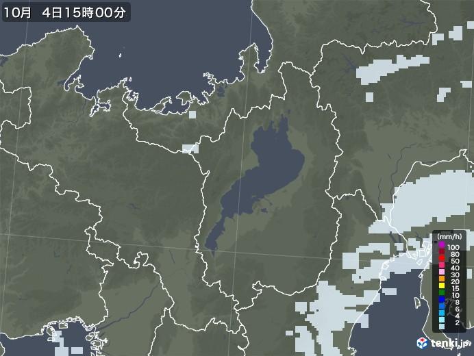 滋賀県の雨雲レーダー(2020年10月04日)
