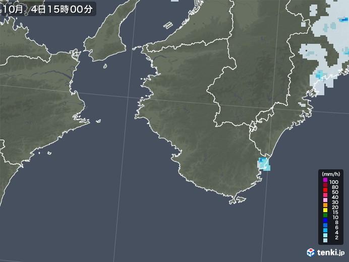 和歌山県の雨雲レーダー(2020年10月04日)