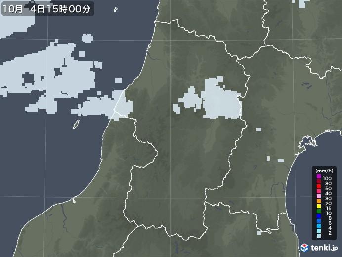 山形県の雨雲レーダー(2020年10月04日)
