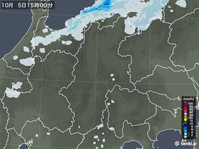 長野県の雨雲レーダー(2020年10月05日)