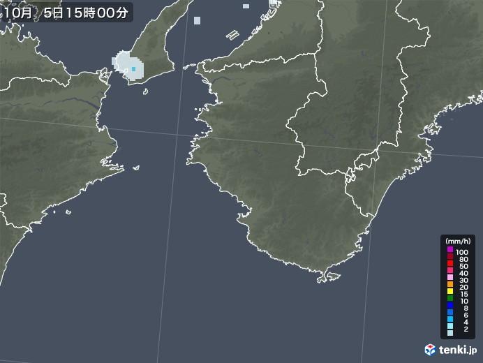 和歌山県の雨雲レーダー(2020年10月05日)