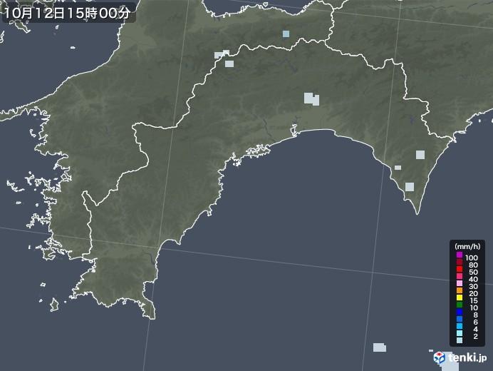 高知県の雨雲レーダー(2020年10月12日)