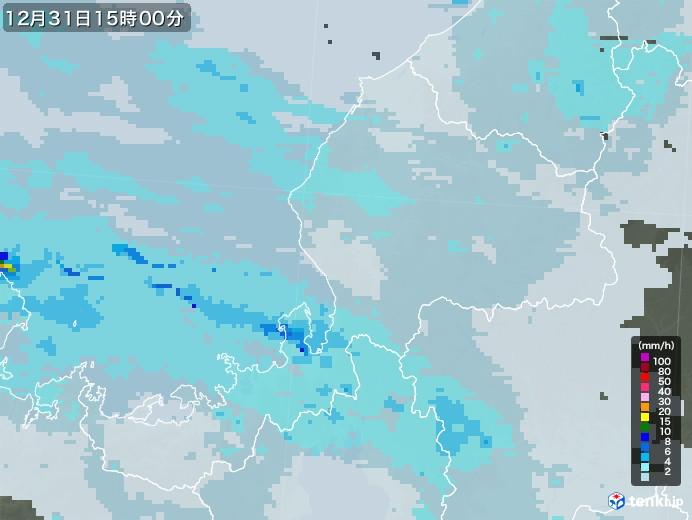 福井県の雨雲レーダー(2020年12月31日)
