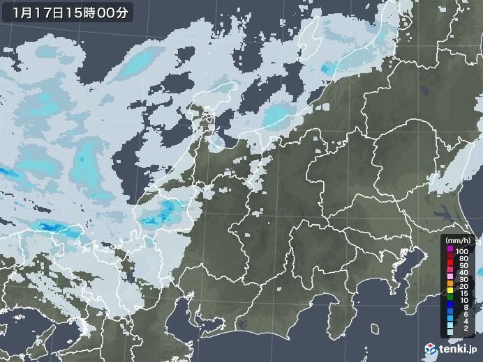 北陸地方の雨雲レーダー(2021年01月17日)