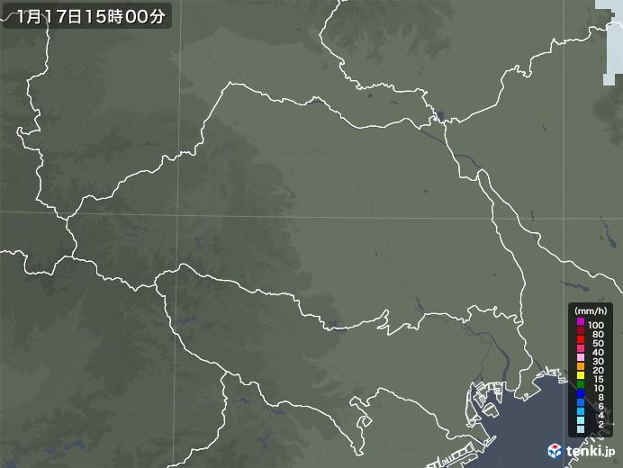 埼玉県の雨雲レーダー(2021年01月17日)