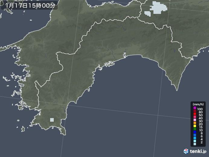 高知県の雨雲レーダー(2021年01月17日)