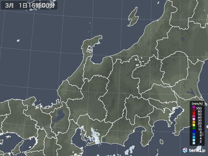 北陸地方の雨雲レーダー(2021年03月01日)