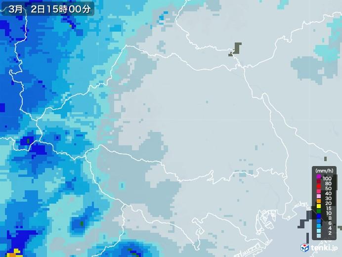 埼玉県の雨雲レーダー(2021年03月02日)