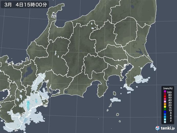 関東・甲信地方の雨雲レーダー(2021年03月04日)