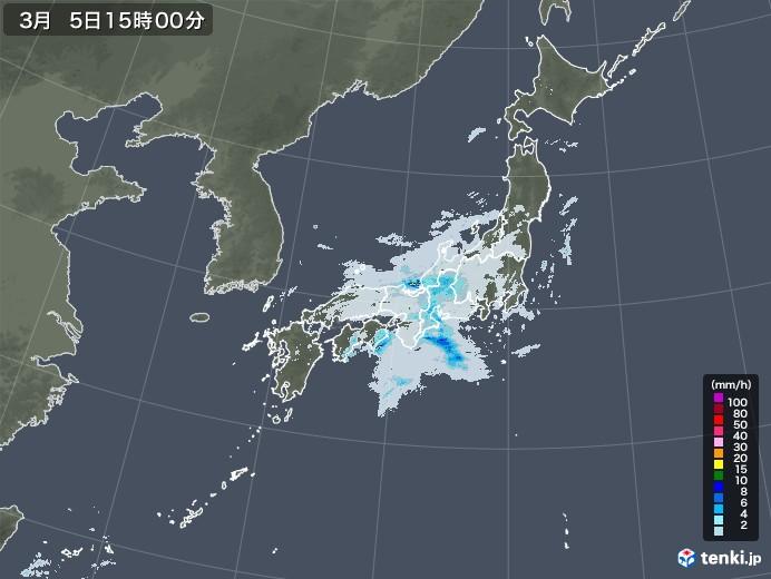 雨雲レーダー(2021年03月05日)