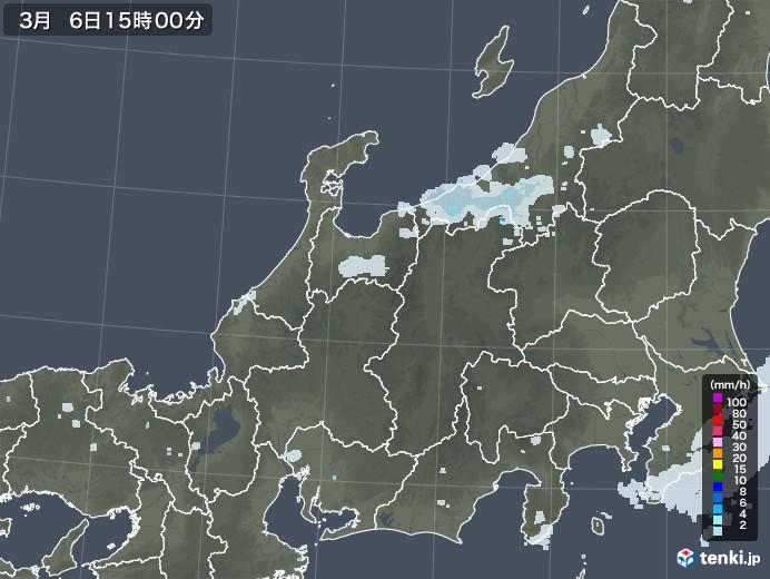 北陸地方の雨雲レーダー(2021年03月06日)